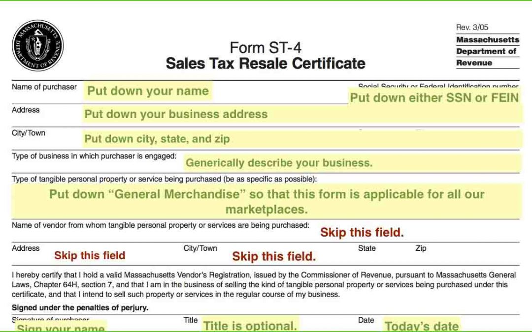 Resale Certificates — Do I Need One?